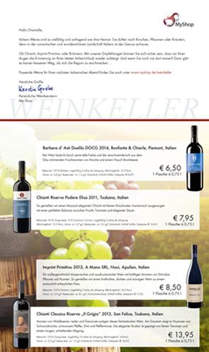 Print Mailing Wein Angebot