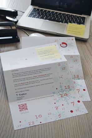 Beispiel für ein Print Mailing mit online Integration