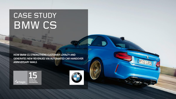 artegic Case Study: BMW CS EN Cover